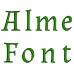 Alme Embroidery Font Digitized Lower and Upper Case 1 2 3 inch Instant Download