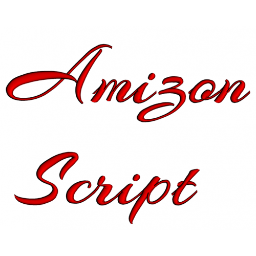 Amizon Embroidery Font Digitized Lower and Upper Case 1 2 3 inch Instant Download