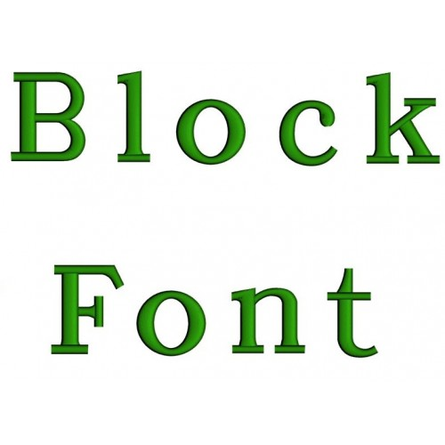 Block Embroidery Font Digitized Lower and Upper Case 1 2 3 inch Instant Download