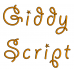 Giddy Embroidery Font Digitized Lower and Upper Case 1 2 3 inch Instant Download