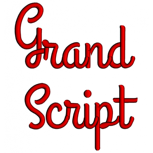 Grand Embroidery Font Digitized Lower and Upper Case 1 2 3 inch Instant Download