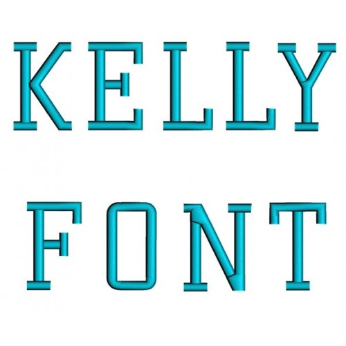 Kelly Embroidery Font Digitized Lower and Upper Case 1 2 3 inch Instant Download
