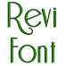 Revi Embroidery Font Digitized Lower and Upper Case 1 2 3 inch Instant Download