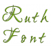 Ruth Embroidery Font Digitized Lower and Upper Case 1 2 3 inch Instant Download