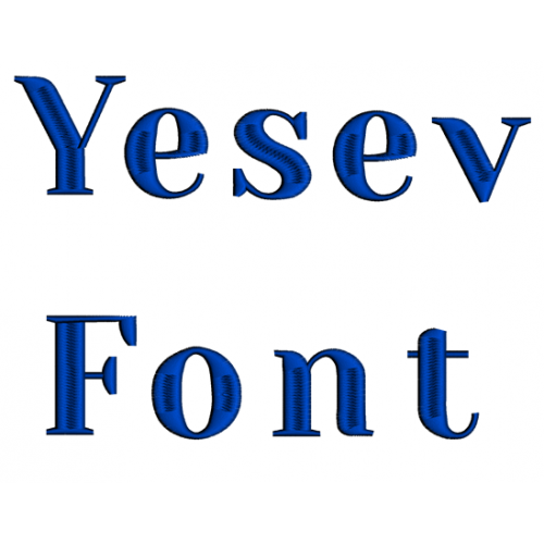 Yesev Embroidery Font Digitized Lower and Upper Case 1 2 3 inch Instant Download