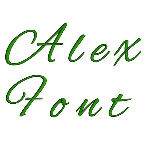 Alex Embroidery Font Digitized Lower and Upper Case 1 2 3 inch -Instant Download