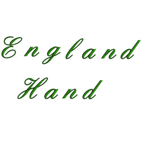 England Hand Embroidery Font Digitized Lower and Upper Case 1 2 3 inch Instant Download