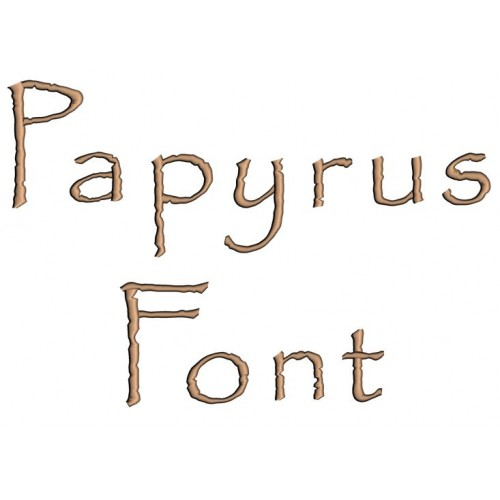 Papyrus Embroidery Font Digitized Lower and Upper Case 1 2 3 inch Instant Download