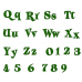 Giggi Script Machine Embroidery Digitized Font Upper and Lower Case 1 2 3 inches