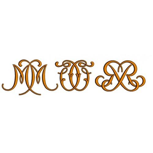 Mirror Satin Upper Case Machine Embroidery Font