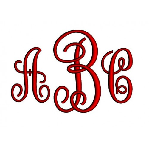 Sofia Monogram Machine Embroidery Font - Upper Case