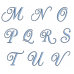 Curly Fancy Machine Embroidery Font Upper Case