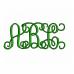 Vine Monogram Interlocking Satin Stitch Machine Embroidery Font - Upper and lower Case